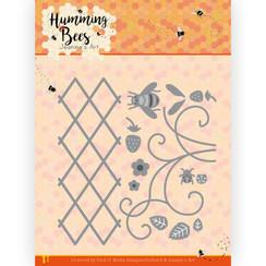 JAD10128 - Mal - Jeanines Art - Humming Bees - Strawberry Trellis