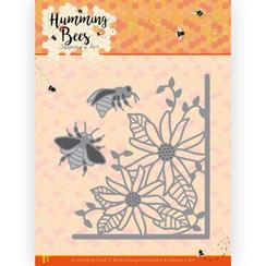 JAD10129 - Mal - Jeanines Art - Humming Bees - Flower Corner