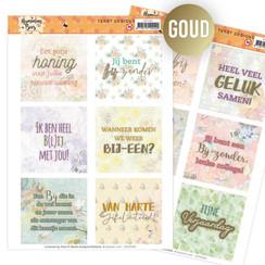 JATD1005 - Tekst Designs - Jeanines Art - Humming Bees (NL)