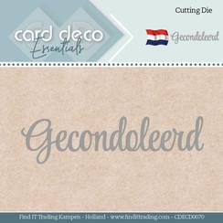 CDECD0070 - Card Deco Essentials - Mal  - Gecondoleerd