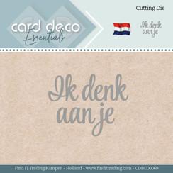 CDECD0069 - Card Deco Essentials - Mal  - Ik denk aan je