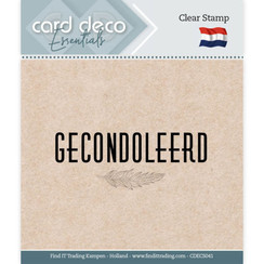 CDECS041 - Card Deco Essentials - Clear Stamps - Gecondoleerd