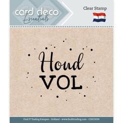 CDECS039 - Card Deco Essentials - Clear Stamps - Houd vol