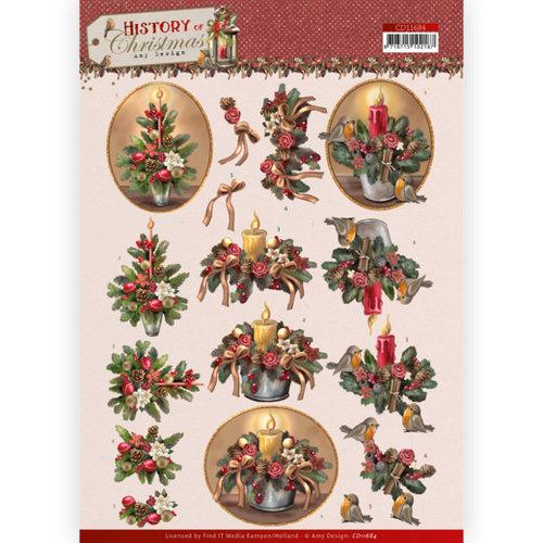 CD11684 - 10 stuks knipvellen - Amy Design - History of Christmas - Christmas Candles
