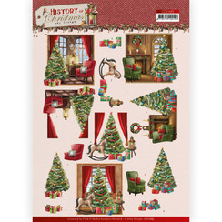 CD11685 - 10 stuks knipvellen - Amy Design - History of Christmas - Christmas Home