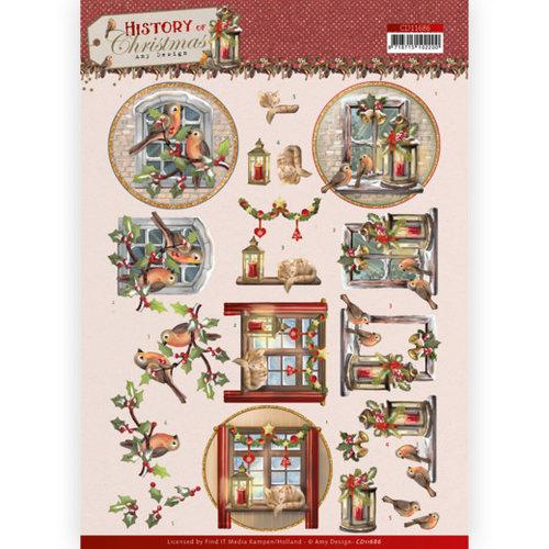 CD11686 - 10 stuks knipvellen - Amy Design - History of Christmas - Christmas Window