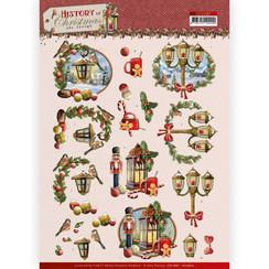 CD11687 - HJ19601 - 10 stuks knipvellen - Amy Design - History of Christmas - Christmas Lanterns