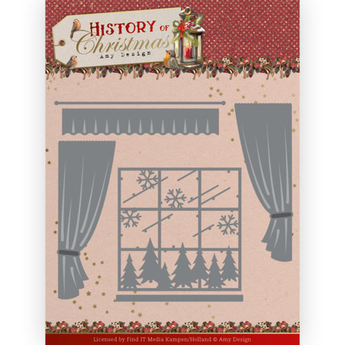 ADD10243 - Mal - Amy Design - History of Christmas - Window with Curtains
