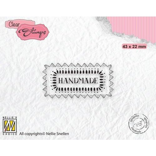 DTCS030 - Nellies Choice Clearstamp Tekst - Handmade DTCS030 43x22mm