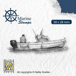 VCS001 - Nellies Choice Clearstamp - Maritime - Boot VCS001 58x28mm