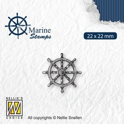 VCS002 - Nellies Choice Clearstamp - Maritime - Roer VCS002 22x22mm