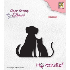 SIL093 - Nellies Choice Clearstamp - Silhouette Pets - Vrienden SIL093 65x54mm