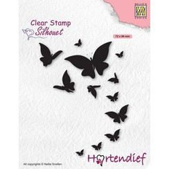 SIL094 - Nellies Choice Clearstamp - Silhouette Pets - Vlinders SIL094 72x94mm