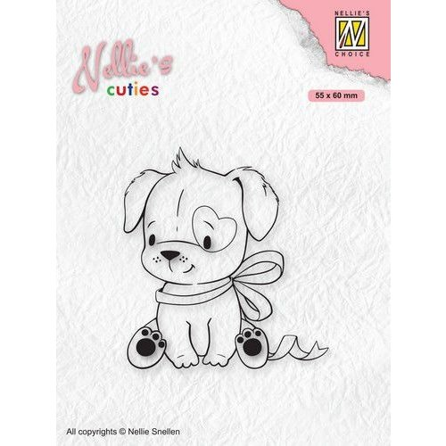 NCCS015 - Nellies Choice Clearstamp - Christmas Cuties - Hond NCCS015 55x60mm