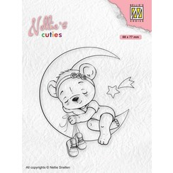 NCCS016 - Nellies Choice Clearstamp - Christmas Cuties - Beer NCCS016 68x77mm