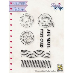 TXCS020 - Nellies Choice Clearstamp - Texture - Post TXCS020 50x79mm