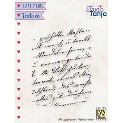 TXCS021 - Nellies Choice Clearstamp - Texture - Geschreven tekst TXCS021 51x67mm