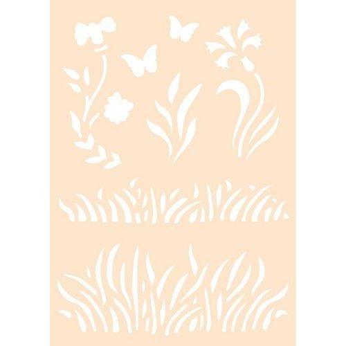 6005/0013 - Joy! Crafts Polybesa stencil - Gras 6005/0013 A6