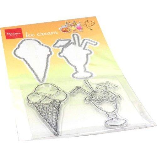 Marianne Design HT1657 -  Clear Stamp & Die Hetty's Summer - ice cream
