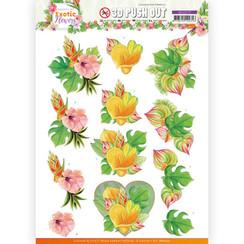 SB10570 - Uitdrukvel - Jeanines Art - Exotic Flowers - Orange Flowers