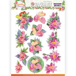 SB10571 - Uitdrukvel - Jeanines Art - Exotic Flowers - Pink Flowers