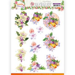 SB10572 - Uitdrukvel - Jeanines Art - Exotic Flowers - Purple Flowers