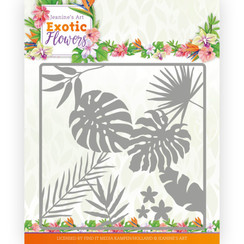 JAD10130 - Mal - Jeanines Art - Exotic Flowers - Leaf and Flower Frame