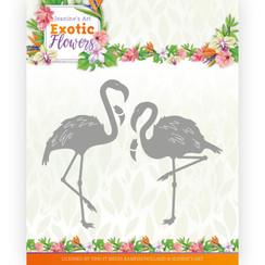 JAD10131 - Mal - Jeanines Art - Exotic Flowers - Flamingo's