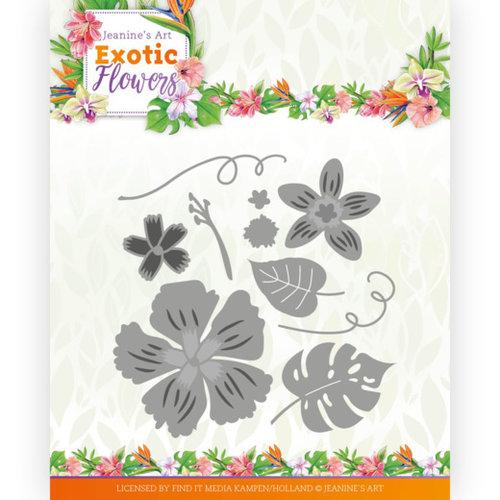 Jeanines Art JAD10133 - Mal - Jeanines Art - Exotic Flowers - Flowers and Leafs
