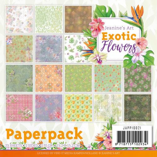 Jeanines Art JAPP10021 - Papierpak - Jeanines Art - Exotic Flowers