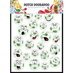 Dutch Doobadoo Dutch Paper Art buzz cut A5 - Voetbal 474.007.016