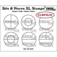 Crealies Clearstamp Bits&Pieces XL no. 01 Cirkels CLBPXL01 25mm