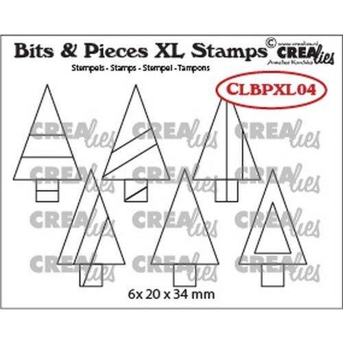 Crealies Crealies Clearstamp Bits&Pieces XL no. 04 Bomen CLBPXL04 20x34mm