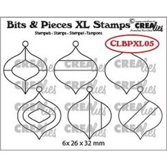 Crealies Clearstamp Bits&Pieces XL no. 05 Kerstballen CLBPXL05 26x32mm