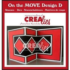 Crealies On The Move Design D CLMOVE05 max.13,5x27cm