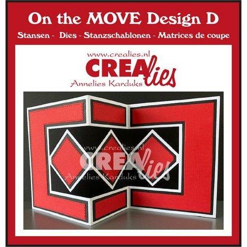 Crealies Crealies On The Move Design D CLMOVE05 max.13,5x27cm