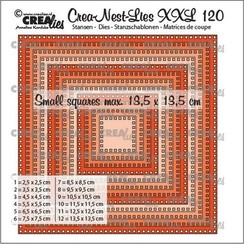 Crealies Crea-nest-dies XXL Vierkanten met vierkante gaatjes CLNestXXL120 max.13,5cm