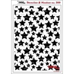 Crealies Stencilzz/Maskzz Sterren CLSTM309 15x21cm
