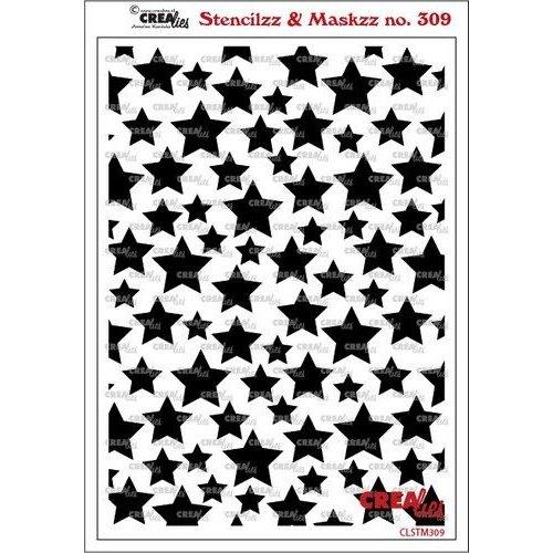 Crealies Crealies Stencilzz/Maskzz Sterren CLSTM309 15x21cm