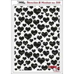 Crealies Stencilzz/Maskzz Harten CLSTM310 15x21cm