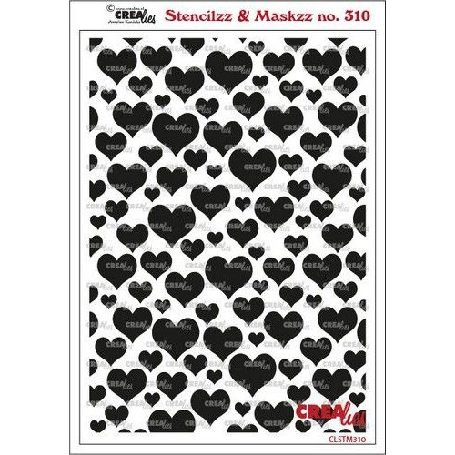 Crealies Crealies Stencilzz/Maskzz Harten CLSTM310 15x21cm