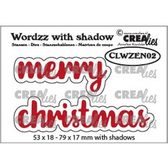 Crealies Wordzz with Shadow Merry christmas (ENG) CLWZEN02 79x17mm