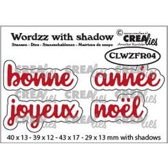 Crealies Wordzz with Shadow Joyeux Noël (FR) CLWZFR04 43x17mm