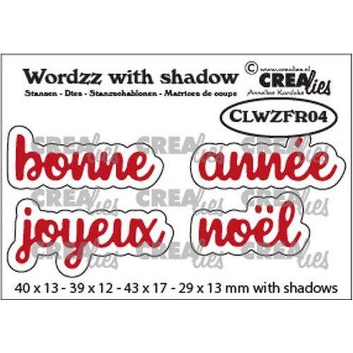 Crealies Crealies Wordzz with Shadow Joyeux Noël (FR) CLWZFR04 43x17mm