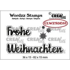 Crealies Clearstamp Wordzz Frohe Weihnachten (DE) CLWZSDE05 82x15mm