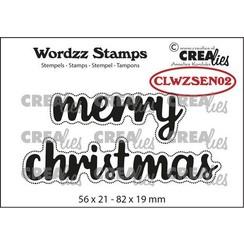 Crealies Clearstamp Wordzz Merry Christmas (ENG) CLWZSEN02 82x19mm