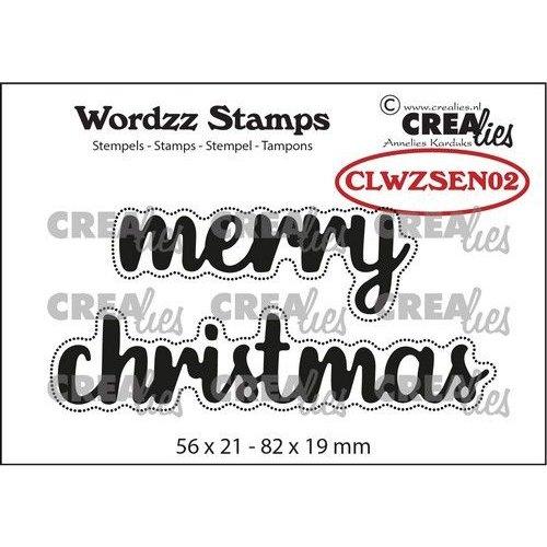 Crealies Crealies Clearstamp Wordzz Merry Christmas (ENG) CLWZSEN02 82x19mm