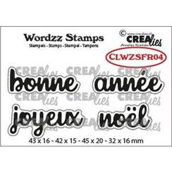 Crealies Clearstamp Wordzz Joyeux Noël (FR) CLWZSFR04 45x20mm