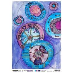 Studio Light Rice Paper Mindful Moodling nr.21 JL-MM-RICE21 A4