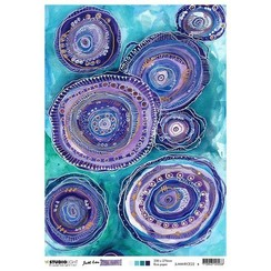 Studio Light Rice Paper Mindful Moodling nr.22 JL-MM-RICE22 A4